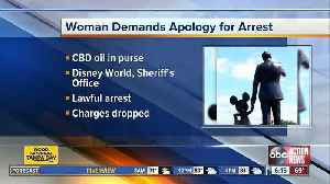 Woman arrested for CBD oil at Disney demands apology [Video]