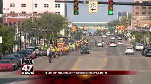 Cyclists ride in silence for annual bike safety awareness campaign [Video]