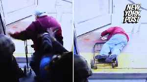 Elderly man dead after being pushed off bus [Video]