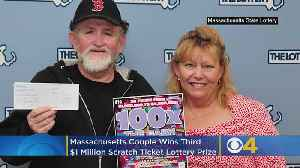 News video: Massachusetts Couple Wins Third $1 Million Scratch Ticket Lottery Prize