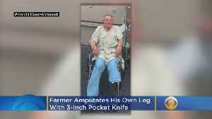 News video: Farmer Amputates His Leg To Save His Life After Getting Sucked Into Machinery