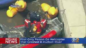 Helicopter Crashes Into Hudson River [Video]