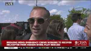 SEE IT: Exclusive Video Of Helicopter Into Hudson [Video]