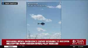Emergency Crews Working To Recover Crashed Helicopter From Hudson River [Video]