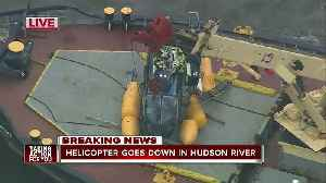 Helicopter goes down in Hudson River [Video]