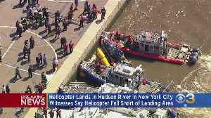 News video: Helicopter Lands In Hudson River In New York City