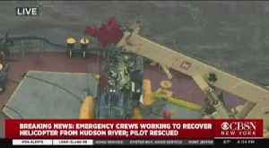 Helicopter Removed From Hudson River [Video]