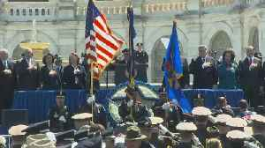 Boston's Singing Police Officers Perform National Anthem At Peace Officers' Memorial Service [Video]