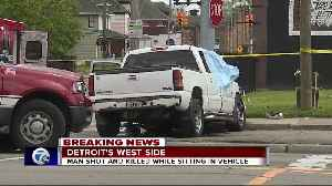 Man shot and killed while sitting in vehicle [Video]