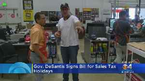 Gov. DeSantis Signs Plan For Tax 'Holidays' [Video]