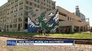 Check out this new Bucks mural in Walker's Point [Video]