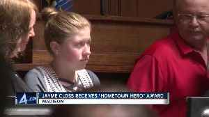 News video: Kidnapping victim Jayme Closs honored by Wisconsin Assembly