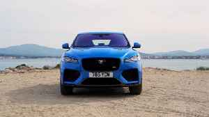 The Jaguar F-PACE SVR 550PS AWD in Ultra Blue Design [Video]