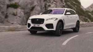 The Jaguar F-PACE SVR 550PS AWD in Fuji White Driving in Southern France [Video]