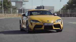 Toyota GR Supra in Yellow on the track [Video]