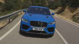 The Jaguar F-PACE SVR 550PS AWD Ultra Blue Driving in Southern France [Video]