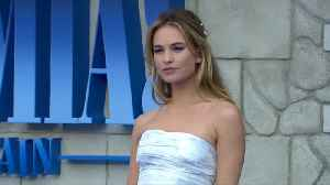 Lily James carries mini-Matt Smith around in her purse [Video]