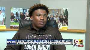 Humble, hardworking Roger Bacon running back Corey Kiner knows 'high school is bigger than sports' [Video]