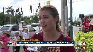 """Save our Schools"" march in Naples supports public education [Video]"