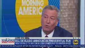 Bill de Blasio in first interview since announcing WH bid [Video]