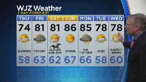 Bob Turk Has A Look At Your Wednesday Evening Forecast [Video]
