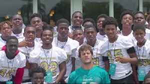 Miami Dolphins hosted Coconut Creek High School at organized team activities [Video]