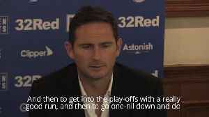 News video: Lampard compares emotions of play-offs with Chelsea days