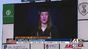 News video: Graduation gone digital: Two SM West students walk via iPad