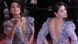 Cannes 2019: Hina Khan dazzles on red carpet [Video]