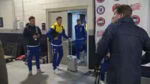 Loftus-Cheek on crutches after friendly [Video]
