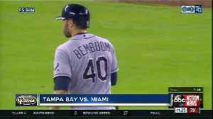 Anthony Bemboom injures knee after getting first major league hit in Tampa Bay's 1-0 win over Miami [Video]
