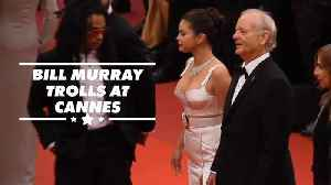 News video: Bill Murray is a whole mood at Cannes