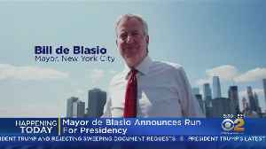 News video: Mayor De Blasio Makes It Official