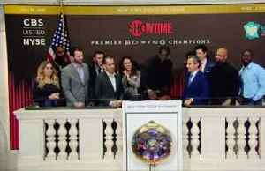 The moment KO king Deontay Wilder breaks gavel at NYSE