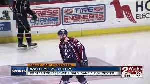 Tulsa Oilers take Game 3 from Toledo, 4-1; cut the Walleye's lead in the ECHL's Western Conference Finals to 2-1 [Video]