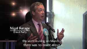 News video: Nigel Farage: Theresa May won't be PM for long