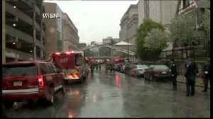 Procession for fallen firefighter [Video]
