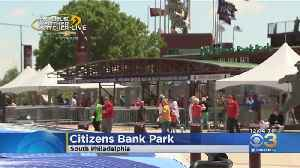 Mobile Weather Watcher Tracking Sunny Day For Phillies Game [Video]