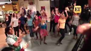 News video: 'Big Bang Theory' Flash Mob Choregrapher Briana Cuoco Gives Insight On Those Behind-The-Scenes Dances