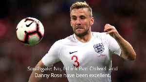 News video: Gareth Southgate: It wasn't difficult leaving Luke Shaw out