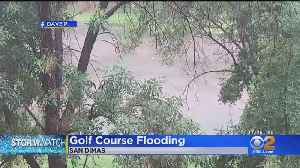 Fast-Moving Storm Causes Flooding At San Dimas Golf Course [Video]