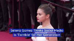 Selena Gomez Shares Her Opinion On Social Media [Video]