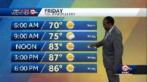 Warm, windy for your Friday [Video]