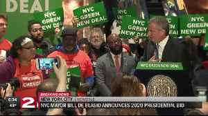 NYC Mayor Bill De Blasio announces bid for 2020 Presidency [Video]