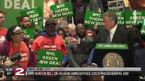 NYC Mayor Bill de Blasio seeks Democratic nod for president [Video]