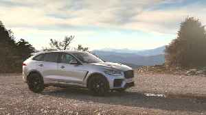 The Jaguar F-PACE SVR 550PS AWD Indus Silver Design in Southern France [Video]