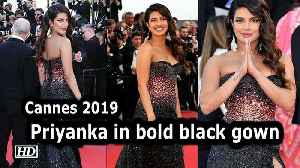 Cannes Film Festival 2019: Priyanka looks fiery in bold black gown [Video]