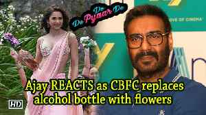 Ajay REACTS as CBFC replaces alcohol bottle with flowers in 'De De...' [Video]