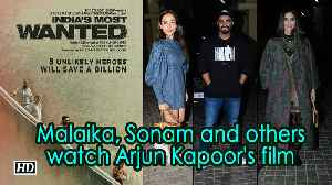 'India's Most Wanted' screening | Malaika, Sonam and others watch Arjun Kapoor's film [Video]