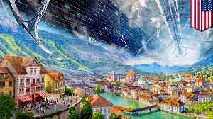 News video: Humans in space: Jeff Bezos unveils space colony vision